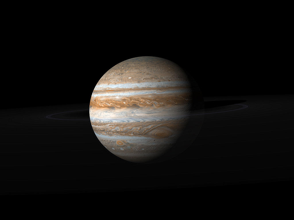 Labeled Solar System with Jupiter - Pics about space